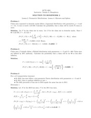 Homework 2 Solution on Construction and Evaluation of Actuarial Models