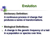 Ecology Evolution