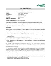 Sample - Emergency, Contract & Operations Coordinator.docx
