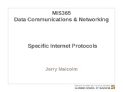 MIS365 10 - Specific Internet Protocols