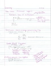 CH 105 Gas Laws Notes