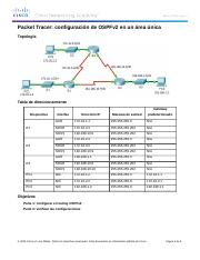 8.2.2.7 Packet Tracer - Configuring OSPFv2 in a Single Area Instructions