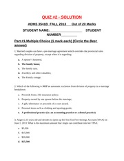 QUIZ #2, Ch. #5 and Tax Planning, SOLUTIONS, Oct 2013 (1)