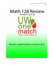 OneMatch MATH 128 Review Package