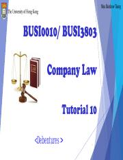 Company Law Tutorial 10_Moodle
