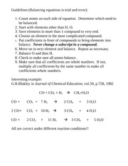 Chem 177 Balancing Chemical Equations[Ch3]