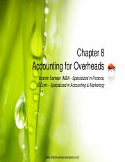 Chapter 8 Accounting For Overheads