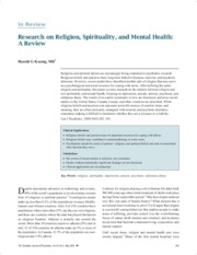Koenig - Research on Religion