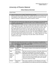 worksheet ethics and material ethical dilemma Responding to ethical dilemmas cgma ethics resources do you have an ethical dilemma at information and any opinions expressed in this material do not.