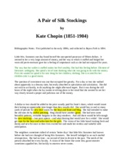 a pair of silk stockings kate chopin essay