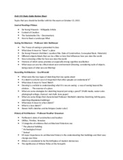 Arch 101 Study Guide Review Sheet Exam II-2