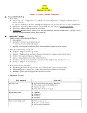 Personality Psych Study Guide