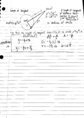 Tangent and circle properties