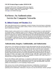 Kerberos An Authentication Service for Computer Networks