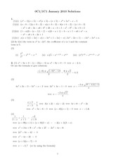 MATH 0C1 Spring 2010 Final Exam Solutions