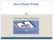Chapter 10 - Basic of Report Writing