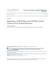 DEWMA vs. EWMA Control Chart Robustness to Non-Normal Processes