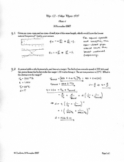 PHYS 122 quiz 6 solutions