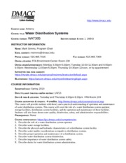 WAT305 Syllabus Spring 2013 FINAL