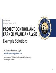 CIVE 303 (2017) - 7 - Project Control and EVA - 20170322 - Solutions.pdf