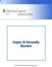 Personality Disorders Spring 2017rev.ppt