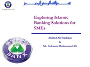 Exploring Islamic Banking Solutions for SMEs