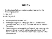 Quiz 5 for Biopharmaceutics and Fermentation Engineering