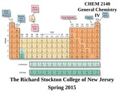 CHEM 2140 General Chemistry slides