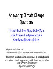 18 Answer Climate Change