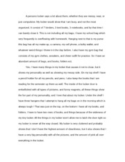 History Personal Writing
