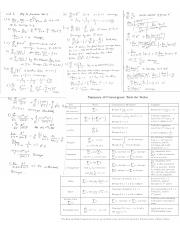 Calc II Test #3 Cheat Sheet