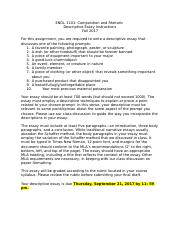 ENGL 1101 - Descriptive Essay Instructions (TR).docx