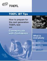TOEFL IBT_Tips