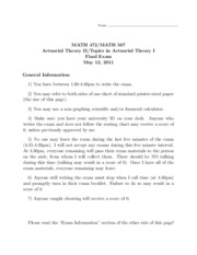 Math 472 Spring 2011 Final Exam Solutions