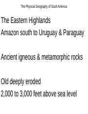 The Physical Geography of South America(1)