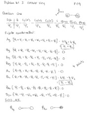PS3 answer key chem173A 2009