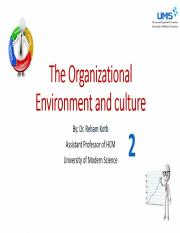 2- The Organizational Environment Lecture x