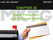 Chapter 18_Sales Promotion  and Personal Selling
