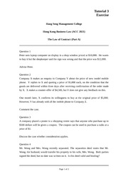 W03 Tutorial Question Contract Part A