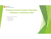 Group 4_EVP_Assignment_Summary of Business Idea