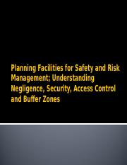 Planning Facilities for Safety and RM Lecture