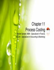 Chapter 11 Process Costing