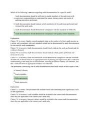 CPA A 6 Audit Documentation