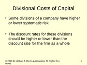 C09 Divisional Cost of Capital.ppt