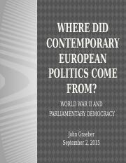 04 - WWII and Contemporary European Politics