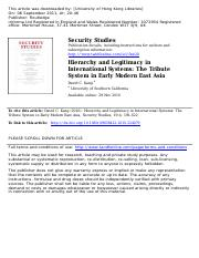 David C Kang - Hierarchy and Legitimacy in International Systems.pdf