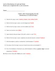 geo Lab 6 - Distribution LW.doc