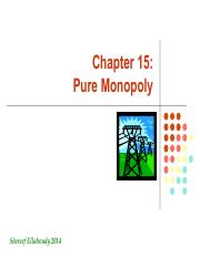 CH 15 Monopoly