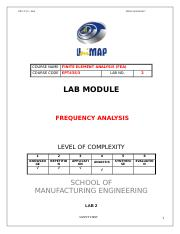 LAB 2 FREQUENCY ANALYSIS.doc