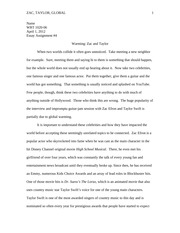 Exaggeration Essay Example